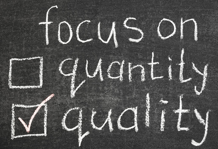 Quality Not Quantity Quote: Don't Believe Creating Quality Content Is Simple